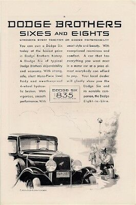 Dodge Brothers Sixes and Eights Dependability Vintage Ad 1930