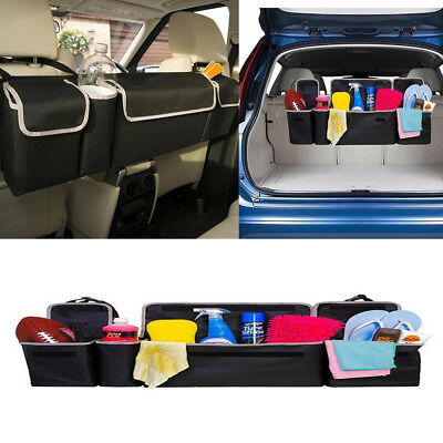 1* High Capacity Multi-use Oxford Car Seat Back Organizer For Interior Accessory