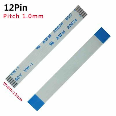 Pitch 1.0mm 12-Pin 12P 80C 60V 20624 FFC/FPC Flexible Flat Cable L:50mm-3000mm