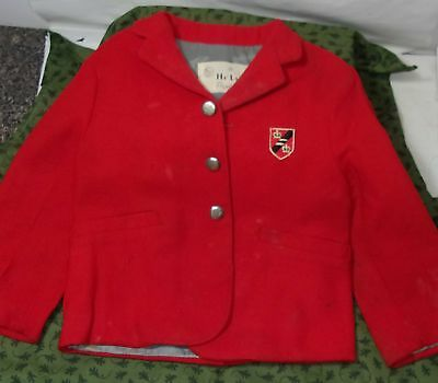 VINTAGE CHILD'S RED SUIT JACKET BLAZER by HI-LINE