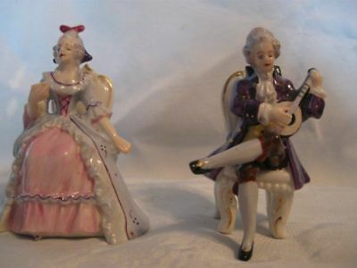 Pair of Miniature Colonial Figurines
