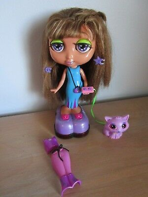 "Mattel DIVA STARZ 9"" Nikki Talking Interactive Doll + Fluffy Cat + Outfit"
