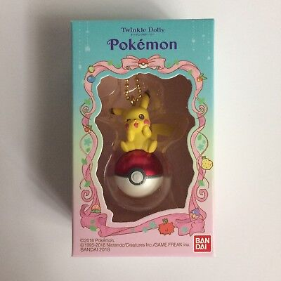 *Pikachu Pokeball* BANDAI Pokemon Twinkle Dolly Charm Figure Japan NEW