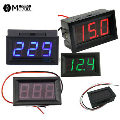 "Red/Green/Blue LED 2/3 Wires 0.56"" AC 70-500V Digital Voltmeter DC 5V-30V/120V"