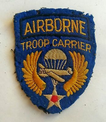 Vintage US Army Airborne Troop Carrier Cloth Patch, WW11