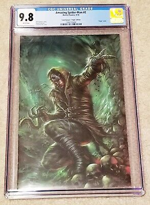AMAZING SPIDER-MAN 2 CGC 9.8 LG 803 LUCIO PARRILLO VIRGIN NEW VILLAIN VARIANT 1s