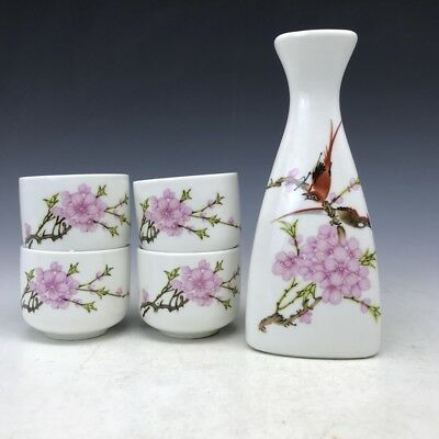 collect china painting flower and bird A set ceramic flagon&cup.