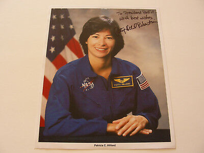 Late Astronaut Patricia Hilliard Robertson Hand-Signed Portrait Litho/Photo NASA