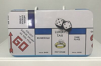 Classic 1984 Monopoly Rectangular Tix Box With Hinged Lid