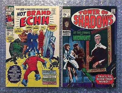 Not Brand Echh #1 (1967) & Tower of Shadows #1 (1969) KEY Marvel Silver Age LOT!
