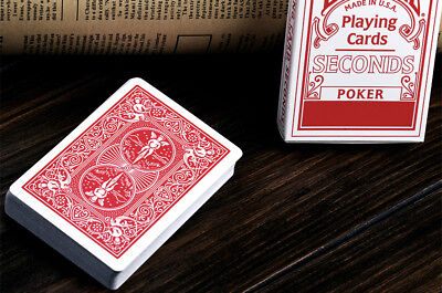1pc BICYCLE SECONDS PLAYING MAGIC TRICKS POKER CARDS DECK- RED