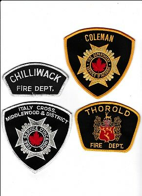 4 Canadian Fire Department Patches
