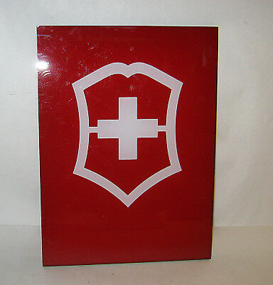 SWISS ARMY 2-Sided Plexiglas Store Display Sign Plaque