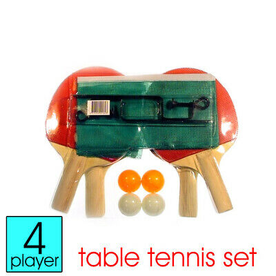 Economic 4 Player Family Table Tennis Ping Pong Set with 4 Balls & Net/Post