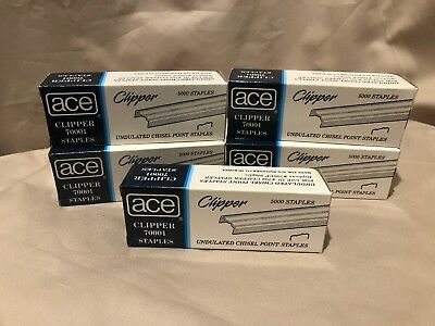 """Ace 70001 Undulated Chisel Point Staples 1/4"""" - NEW"""