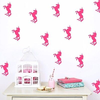 Set of 32 Pcs Unicorn Wall Stickers Kids Decal Vinyl Art Decor Mural Removable