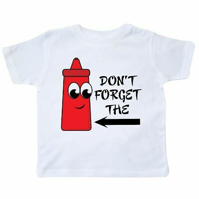 7aaa3238 Inktastic Don't Forget The Ketchup Toddler T-Shirt Food Picnic Red Funny  Humor