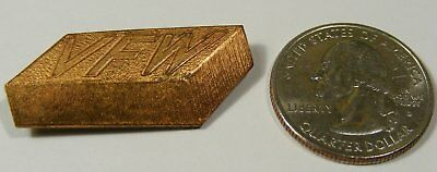 Veterans Of Foreign War Pin V.f.w.copper  Brick Made By H.m. Karfstedt