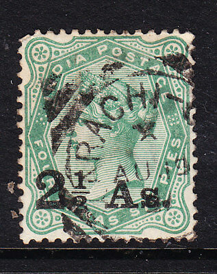 India 1891 QV  - 2½ Anna Surcharge #102