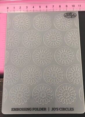 #79 Craft Concepts Embossing Folder Cuttlebug Sizzix Compatible Jo's Circles