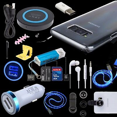 Accessory Kit Charger Cable Lens Case Converter for Samsung Galaxy S8 S9 Note 8