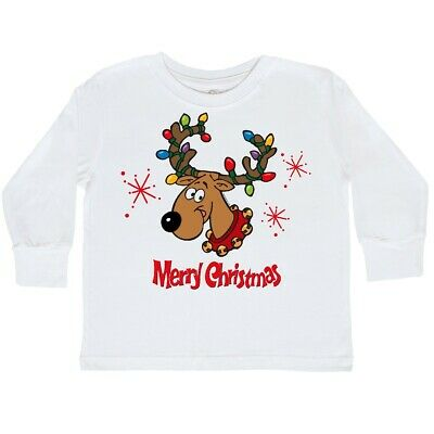 inktastic Merry Christmas with Reindeer Ornament and Stars Long Sleeve Creeper
