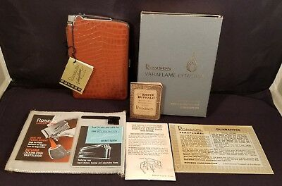 Vintage Ronson Varaflame Cigarette Case And/or Pocket Lighter W/ Box And Extras