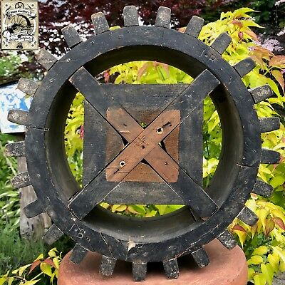 Antique 1850s Rare Industrial Machinery Wood Gear Cog Foundry Pattern Americana!