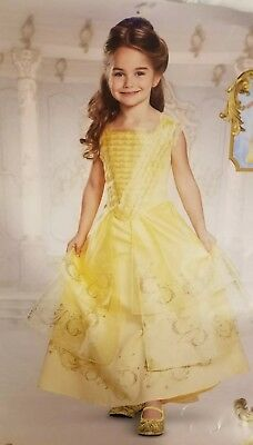 Belle Ball Gown Deluxe Costume Dress Child Disney Princess S/P 4-6