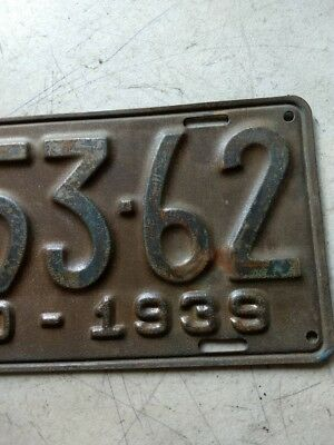 1939 State Of Idaho License Plate 1A5362