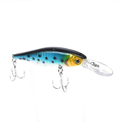 1x10cm /9.4g artificial pesca lure minnow hard bait with 2 fishing hooks E Dy