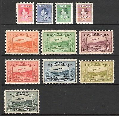 New Guinea 1937 & 1939 Airmail Selection (Hm) (Sg 208/211 & 212/218)