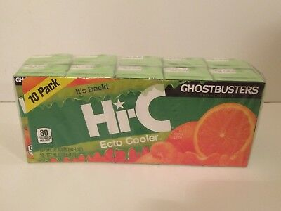 Hi-C Ecto Cooler Reissue Limited Release Juice Boxes GHOSTBUSTERS Slimer 10-Pack