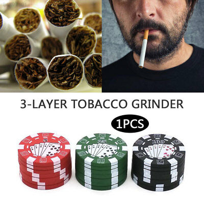 2E63 Chip Style 3-Laye Metal Tabacco Spice Crusher Metal Herb Grinder