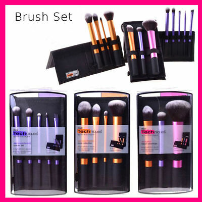 Real Techniques Makeup Brushes Sculpting Powder Blush Foundation Sponge Puff Set