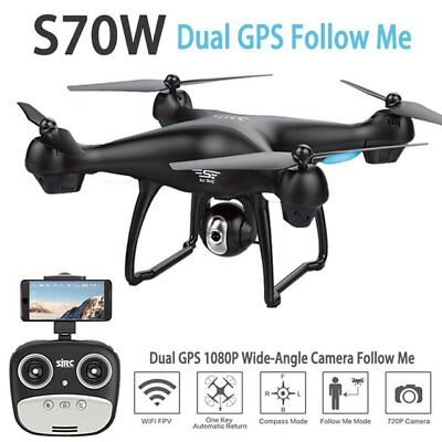 SJRC S70W RC Drone 1080P Camera Dual GPS-2.4GHz WiFi/FPV Quad Copter Aircraft