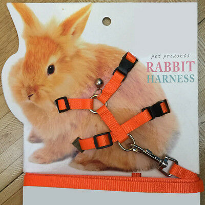 Pet Rabbit Soft Harness Leash Adjustable Bunny Traction Rope for Running Walking