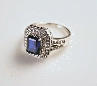 Samuel Aaron - Sterling Silver and Rhinestone Ring - 8835-1
