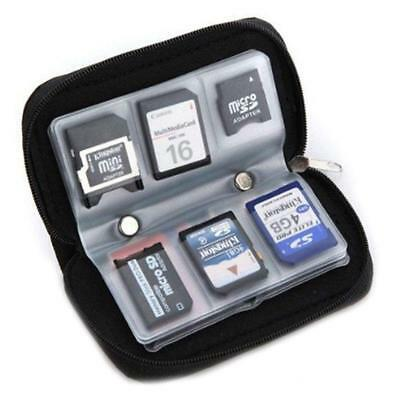 SDHC MMC CF Micro SD Carrying Pouch Case Holder Memory Card Storage Wallet/