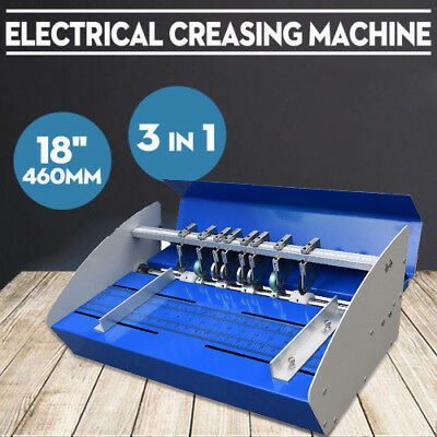 "Metal Electrical Creasing Machine 18"" Creaser Scorer Perforating Paper 60Hz Neu"