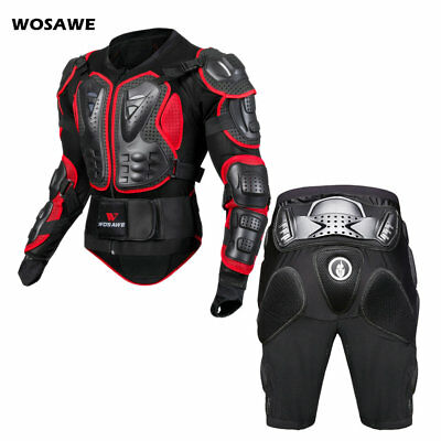 Motorcycle Motocross Armor Jacket Shorts Body Protective Gear Hip Chest Guard