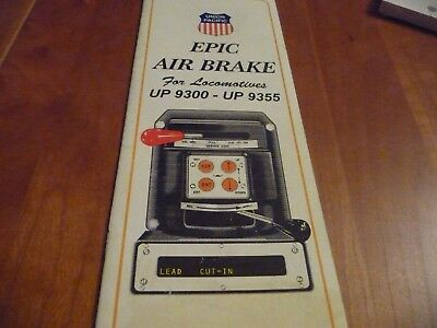 Union Pacific Epic Air Brake for Locomotives 9300-9355 - 1996