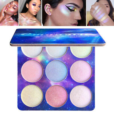 9 Colors Contour Face Glow Concealer Highlight Giltter Eyeshadow Makeup Palette