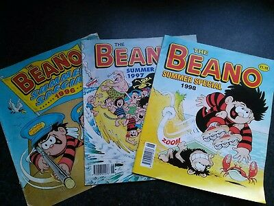 Bundle Job Lot BEANO COMIC'S Summer Special 1996 1997 and 1998