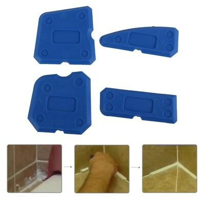 4 pcs Silicone Sealant Spreader Profile Applicator Tile Grout Tool Home Help US