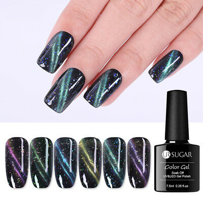 UR SUGAR Cat Eye Soak Off UV Gel Polish 7.5ml Magnetic Glitter Nail Gel Varnish