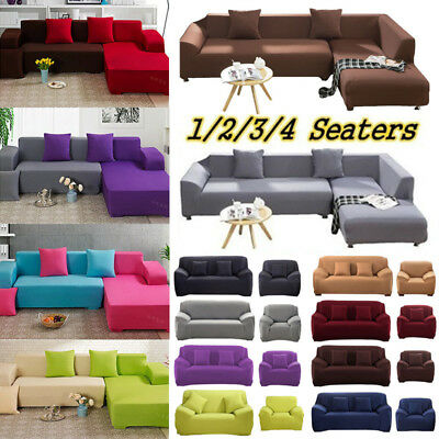 1 4 Seaters Fashion Retro Recliner Sofa Covers Soft Couch Slipcovers Multicolor