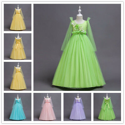 Sweet Tulle Girls Flower Dress Lovely Princess Party Wedding Birthday Party Gown