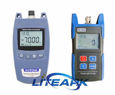 TL512 Fiber Optical Light Source & TL520A Optical Power Meter -70 ~+10dBm