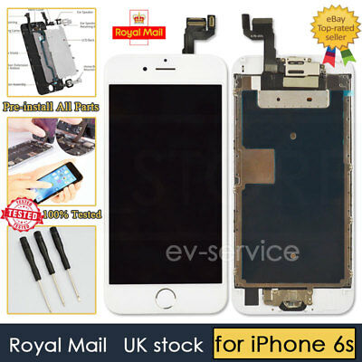 White Screen For iPhone 6s Replacement Digitizer LCD Touch Home Button Camera